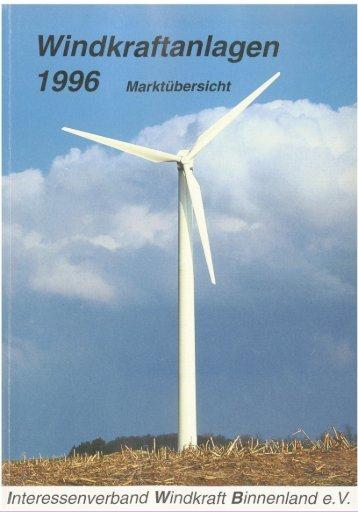 Jahrbuch Windenergie 1996  - BWE Marktübersicht