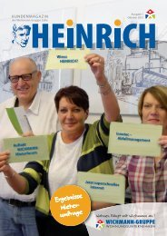 HEINRICH 1 - Das Kundenmagazin der WICHMANN-Gruppe