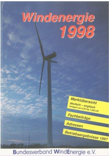 Jahrbuch Windenergie 1998 - BWE Marktübersicht
