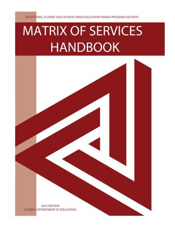 MATRIX OF SERVICES HANDBOOK