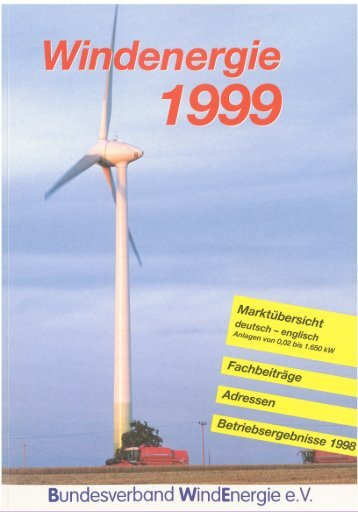 Jahrbuch Windenergie 1999 - BWE Marktübersicht