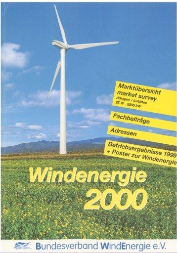 Jahrbuch Windenergie 2000 - BWE Marktübersicht