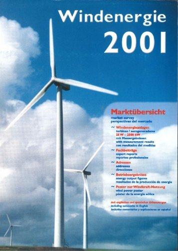 Jahrbuch Windenergie 2001 - BWE Marktübersicht