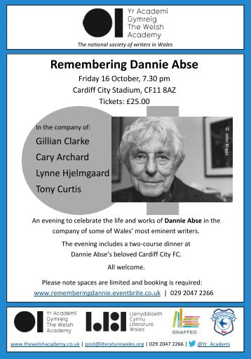 Remembering Dannie Abse