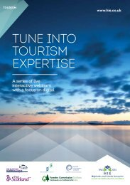TUNE INTO TOURISM EXPERTISE