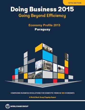 Economy Profile 2015 Paraguay