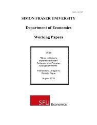 Department of Economics Working Papers