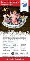 Wasmeiers Weihnachtsmarkt & Weihnachtswirtshaus 2015