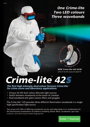 Crime-lite 42S Dual Wavelength LED Forensic Light Source