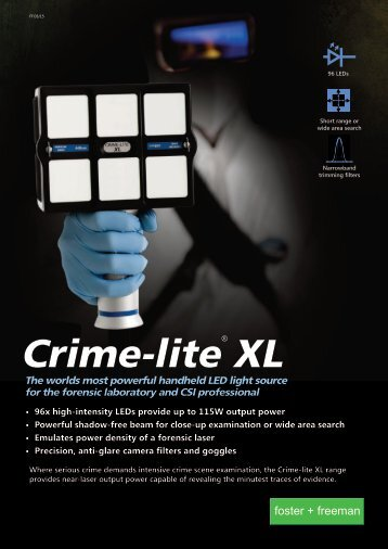 Crimelite XL the World's Most Powerful LED Forensic Light Source
