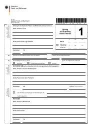 Antrag auf Erteilung eines Patents (Formular P 2007) - DPMA