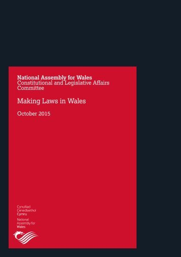 Making Laws in Wales