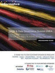 MDM & Data Governance Summit EMEA