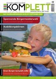 Komplett Das Sauerlandmagazin August/September 2015