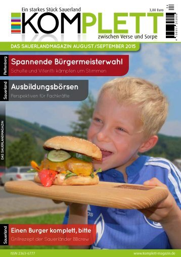 Komplett Das Sauerlandmagazin August/September 2015