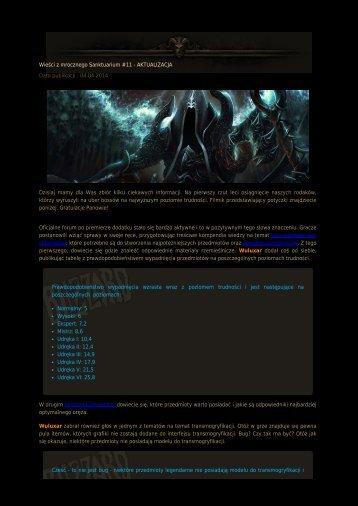 Wieści z mrocznego Sanktuarium #11 - Diablo3.net.pl
