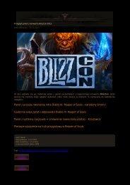 Panel z procesu tworzenia intra Diablo III: Reaper of Souls ...