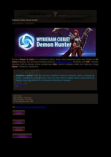 Wybieram Ciebie: Demon Hunter! - Diablo3.net.pl