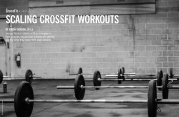 SCALING CROSSFIT WORKOUTS