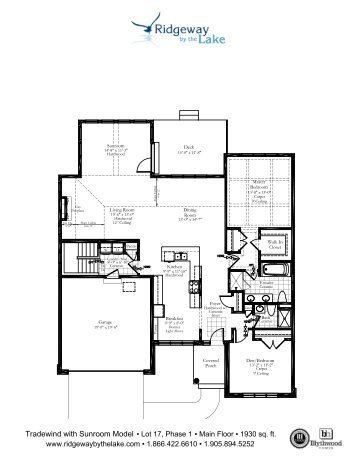 Floor Plan Main Floor with Sunroom Option 1890 sq. ft.