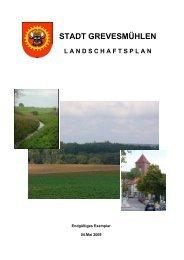 Landschaftsplan der Stadt Grevesmühlen Teil 1