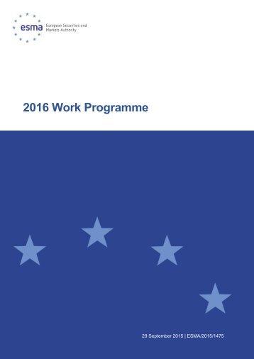 2016 Work Programme