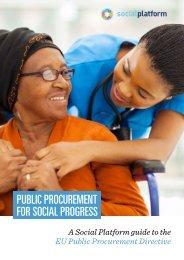 Public procurement for social progress