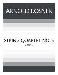 Rosner - String Quartet No. 5, op. 66