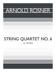 Rosner - String Quartet No. 6, op. 118