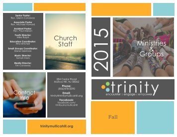 Fall 2015 Trinity Ministries Brochure