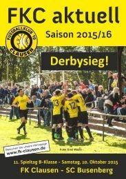 FKC Aktuell - 11. Spieltag - Saison 2015/2016