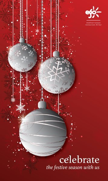 CHRISTMAS LUNCH PARTY MENU 3 Courses £20.95