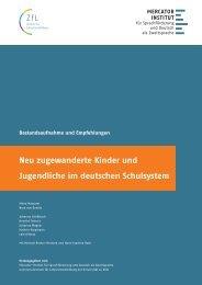 Neu zugewanderte Kinder und Jugendliche im deutschen Schulsystem