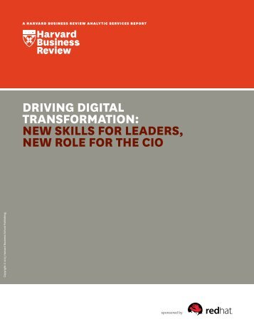 TRANSFORMATION NEW SKILLS FOR LEADERS NEW ROLE FOR THE CIO