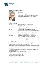 Andreas Peteranderl – Coachprofil