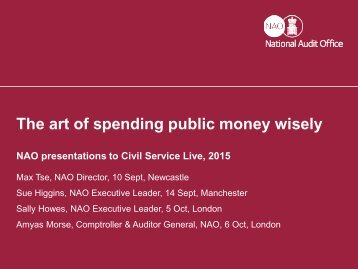 The art of spending public money wisely