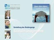 Vorstellung des Studiengangs Sozialmanagement - Hochschule ...