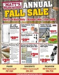 Matts - Fall Sale 2015