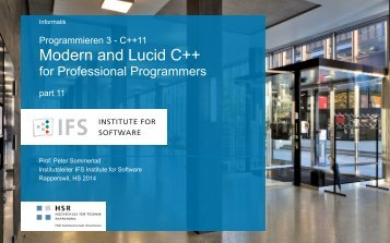 Modern and Lucid C++
