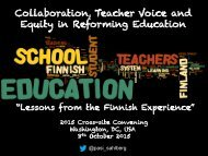 Collaboration Teacher Voice and Equity in Reforming Education