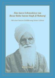 Eine kurze Lebensskizze von Hazur Baba Sawan Singh Ji ...