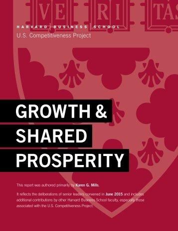 GROWTH & SHARED PROSPERITY