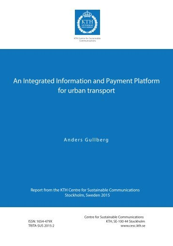 An Integrated Information and Payment Platform for urban transport