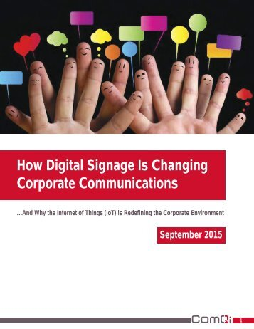 How Digital Signage Is Changing Corporate Communications