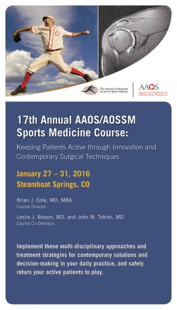 17th Annual AAOS/AOSSM Sports Medicine Course
