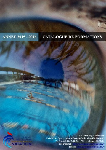 ANNEE 2015 - 2016 CATALOGUE DE FORMATIONS
