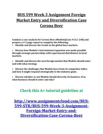 foreign market entry and diversification Posts about assignment 3: foreign market entry and diversification written by dr jane.