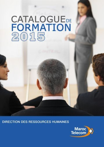 CATALOGUE DE FORMATION 2015