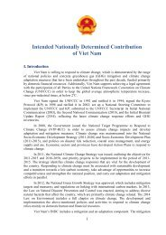 Intended Nationally Determined Contribution of Viet Nam