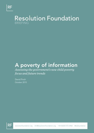 A poverty of information